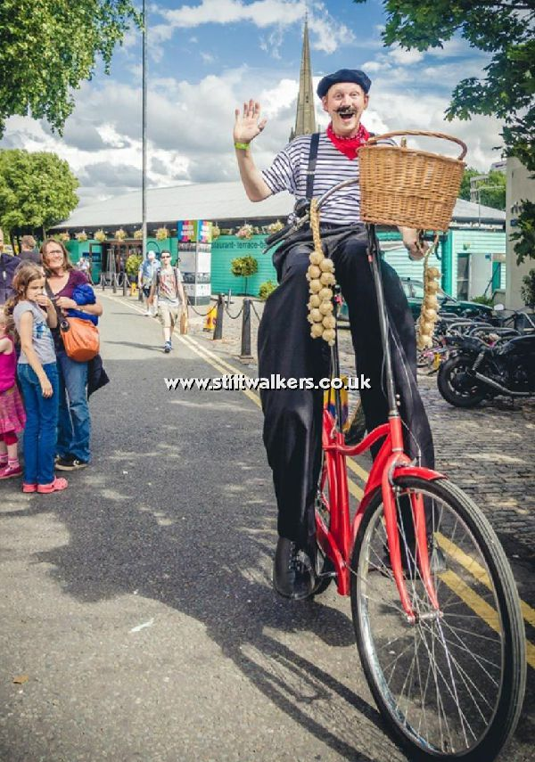 Frenchman on a Stilt Bicycle