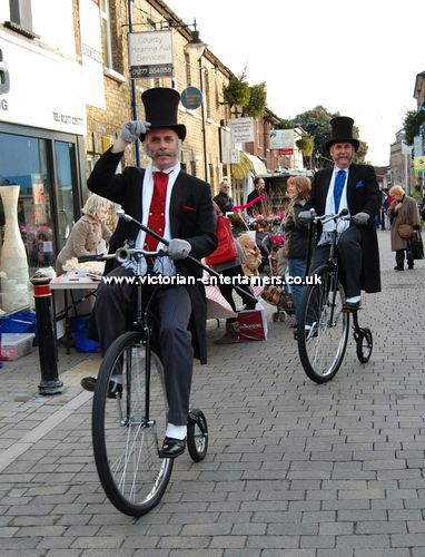 Victorian Gents on Penny Farthings